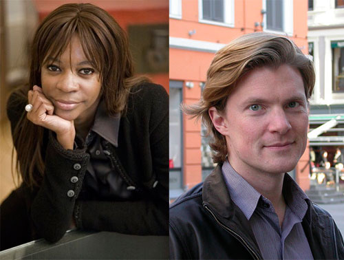 Dambisa Moyo and Johan Norberg side by side