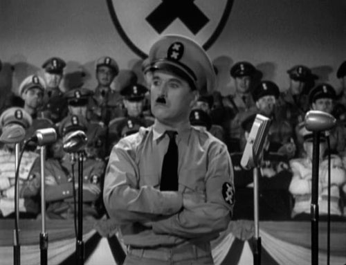 Charly Chaplin in The Great Dictator